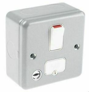 Box of 5 MK K932ALM 13AMP Double Pole Switched Connection Unit with Flex Outlet