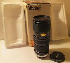 Vivitar 75-205mm f3.8 1:3.8x C/FD Zoom Lens for Canon with Box 0213350