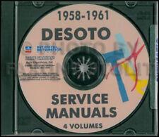 Desoto Tienda Manual CD 1958 1959 1960 1961 de Soto Servicio Reparación Todos