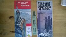 3x World Trade Centre Observation Deck Tickets - 1983 and Brochure Authentic