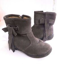 NATURINO GRAY SUEDE BOOTIES ANKLE BOOTS W/ BOW DETAIL SZ 22 US 6-6.5
