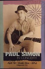 Paul Simon Concert Poster Live in Hollywood Ca by Geoff Gans