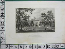 1830 ANTIQUE PRINT SHROPSHIRE ~ THE COPPICE ~ SEAT OF REYNOLDS