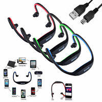 Skull Wireless Headphones Over the Ear Earphones Headset W/ USB Rechargeable