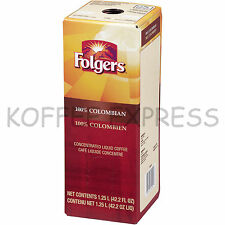 Folgers Liquid Coffee 1.25 Liter 100% Colombian (One) - Replaces Douwe Egberts