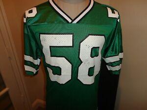 Vtg 90's Green Champion New York Jets #58 James Farrior NFL Screen Jersey Men 44