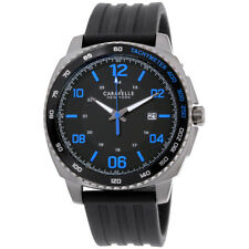 Caravelle Black Dial Silicone Strap Men's Watch 45B144
