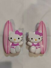 Pink Hello Kitty Surfboard Beach Towel Clips Set Of 2 Vacation Pool Summer Fun