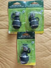 3 Brasscraft Spray Faucet Aerator, Dual Thread, Double Swivel, Chrome &Black