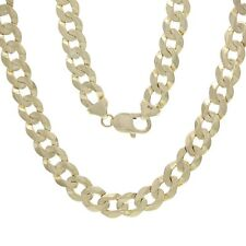"Men's Solid 10K Yellow Gold 22"" Cuban Link Chain Necklace 9.5mm - 51.7 grams"