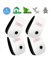 Ultrasonic Pest Repeller Control Reject Mosquito Rodent Insect Bed Bug 4 Pack