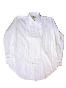 AFTERSIX  White Tuxedo Dress Shirt Men Size M 2