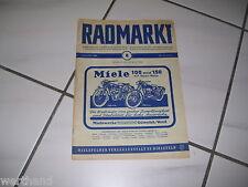 Oldtimer Fahrrad  Radmarkt Miele 15.April 1954