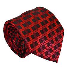 Premium Red 100% Seda Para hombres Corbata Corbata Hombre todas ocasiones formales