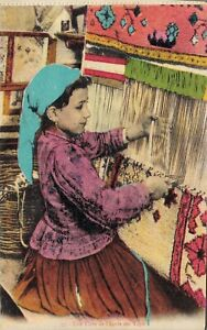 Algeria Une Eleve de L'Ecole des Tapis Carpet Weaver 06.23
