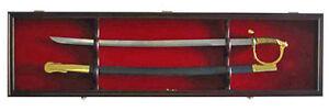 Sword Display Case Cabinet Stand Holder Wall Rack - Lockable door, KCS03-MAH