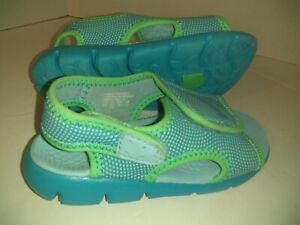 NIKE TODDLER 9 C SUNRAY WATER SANDLES GIRL/BOY ADJUSTABLE BLUE NO LACES SHOES