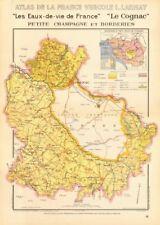 Cognac brandy carte petite champagne et borderies. charente maritime. larmat 1947