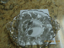 25Th Silver Wedding Anniversary Serving Tray Clear Glass Silver Decor 10.5 Inch