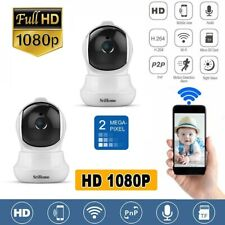 2X SRICAM HD 1080P TELECAMERA IP CAMERA WIRELESS WIFI CCTV IR LED IPCAM WEBCAM
