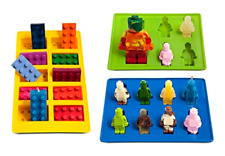 Lego Ice Trays Cube Chocolate Jelly Gummies Candy Jello Molds Silicone Brick Kid
