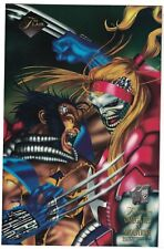 Wolverine Omega Red 1994 Flair Prints oversized card Diamond Promo Sample VHTF