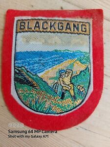 BLACKGANG CHINE BADGE FABRIC CIRCA 1980S MEMORABILIA
