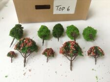 N Scale   Set Of 10 Trees , Forest, Foliage, Scenery, Deciduous And Blossom