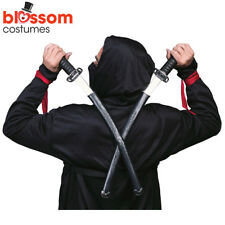AC126 Ninja Double Samurai Swords Plastic Toy Fancy Dress Costumes Accessory