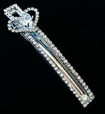 USA Quality Hair Clip using Swarovski Crystal Hairpin Long Fashion Silver