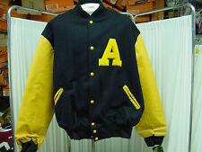 NCAA University of Akron Zips Varsity Letterman's Jacket Size XXL, Fits Like XL