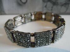 Paste Stone Elasticated Bracelet Vintage Art Deco Style