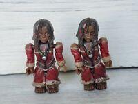 Mega Bloks Pirates of the Caribbean Mini Figure Tina Rare 2006 Lot of 2