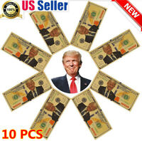 10PCS President Donald Trump New Colorized $1000 Dollar Bill Gold Foil Banknote