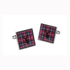 Cufflinks & Gift Pouch Royal Stewart Scottish Tartan with Stag design