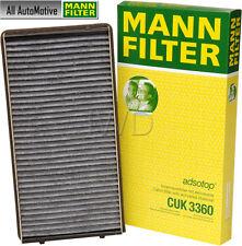 Cabin Filter (charcoal) fits Porsche 911 Boxster MANN CUK3360 99657121901