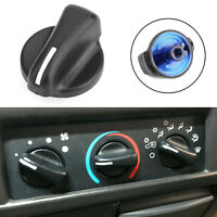 1X Heater A/C Blower Fan Speed Control Knobs Black For Jeep Wrangler TJ 99-06 TG