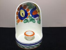 Czechoslovakia Open Hand painted Ceramic Cup Candle Holder