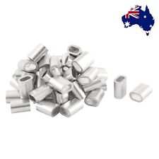 AU Ship Oval Aluminum Sleeves Clamps for 3mm Wire Rope Swage Clip 50pcs