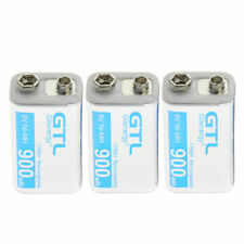 3 pcs Durable 9V 9 Volt 900mAh Power Ni-Mh Rechargeable Battery Cell PPS block