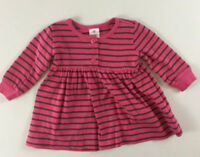 Hanna Andersson 6-12 Months 70 Pink Brown Striped Play Dress