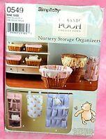 Uncut Simplicity Pooh Baby Room Nursery Storage Organizers Hamper Pattern 0549