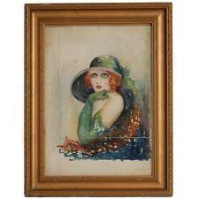 Art Deco Watercolour Portrait by Beatrice Godfrey
