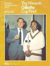 Glamorgan v Middlesex 1977 Gillete Cup Final Cricket Programme at Lord's