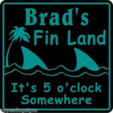 Personalized Custom Name Parrot Head Fin Land 5 0'clock Somewhere Bar Sign 24