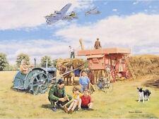 Boeing B-17 Fortress Fordson Tractor Nostalgic Land Army WWII Birthday Card