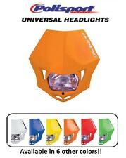 Polisport Orange MMX Universal Headlight Dirtbike Motocross Bike Kawasaki