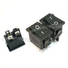 1 x Black Button 4 Pin DPST ON/OFF Boat Car Rocker Switch 6A 250v 10A 125V K104