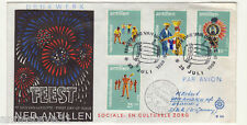 NETHERLANDS ANTILLES REG AIRMAIL FDC 1969 RELIEF FUND