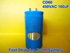 CD60 450VAC 100uF 50Hz Air Conditioner Appliance Motor Capacitor **NEW**